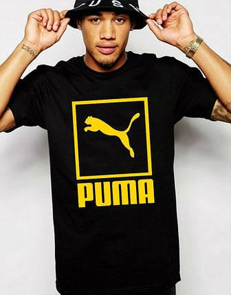 550807706a16 Мужская футболка Puma чёрная с жёлтым отличного качества в интернет ...
