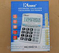 Калькулятор Kenko 1048. Канцтовары. Калькулятор +кнопки CE, GT, настольный калькулятор