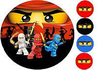 Ниндзяго Лего 15 Вафельная картинка