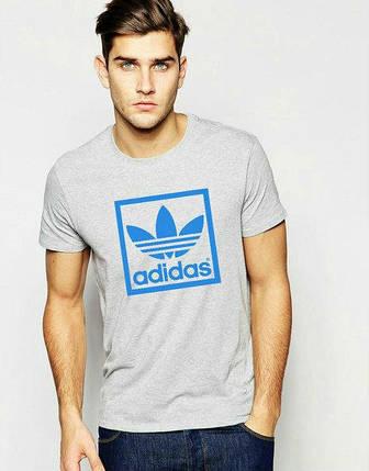 Мужская футболка Adidas синий квадрат, фото 2