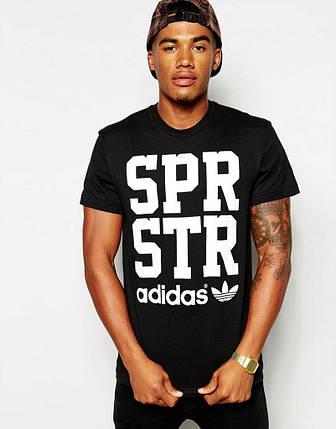 Мужская футболка Adidas SPR STR чёрная, фото 2