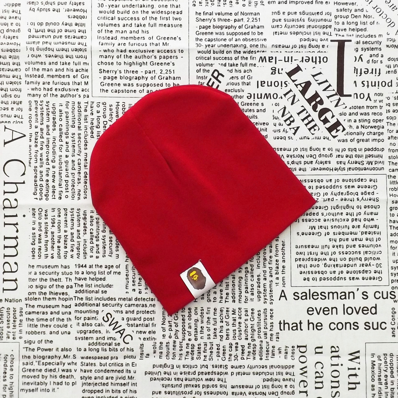 Демисезонная трикотажная шапка Варе для малышей от 2 до 5 мес.  Бордовый