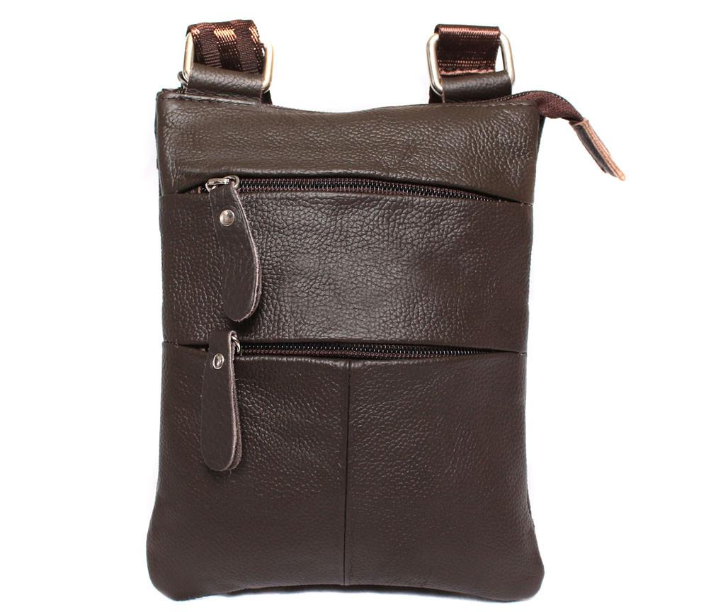 Мужская сумка из натуральной кожи через плечо 300132