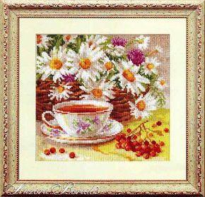Полуденный чай J271/1 Набор для вышивки крестом с печатью на ткани 14ст