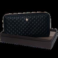 Кошелек женский Gucci (кожаный), G-7025 A Черный, размер 18*9*3
