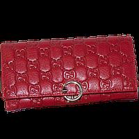 Кошелек женский Gucci (кожаный), G515-(red) Красный, размер 17*8*2,5