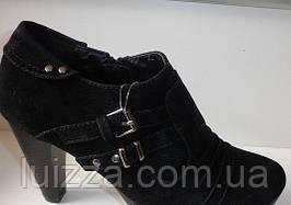 Ботинки женские эко замш 36 р