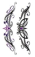 Временная татуировка для крестца