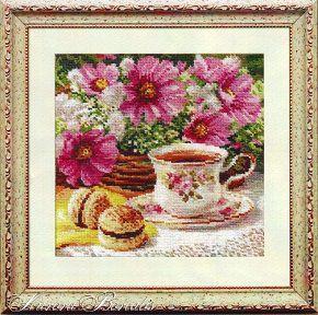 Набор для вышивания крестом с печатью на ткани NKF Полуденный чай 2 14ст J272/2