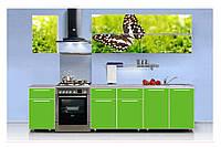 Фасады кухонные Бабочка, зеленая кухня
