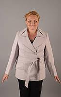 Жакет жаккардовый  50-62р серый