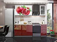 Фасады кухонные с УФ печатью, гранат