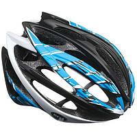 Велошлем Bell Gage чёрный/синий/белый Burnout (GT)