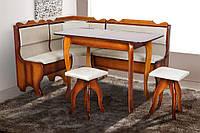 Кухонный комплект Ромео (уголок + диван + 2 табурета) Орех (Микс-Мебель ТМ)