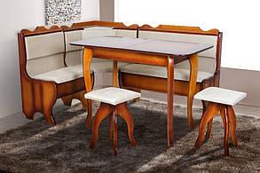 Кухонний комплект Ромео (куточок + диван + 2 табурета) Горіх (Мікс-Меблі ТМ), фото 2