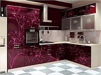 Фасады кухонные с УФ печатью, лилии
