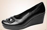 Женский туфель -натуральная кожа (черный)