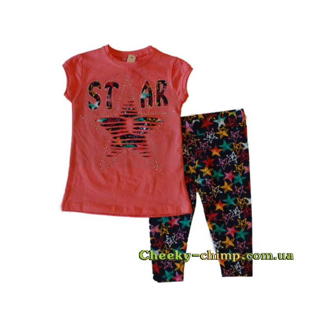 Детский костюм на девочку Star (футболка, бриджы)