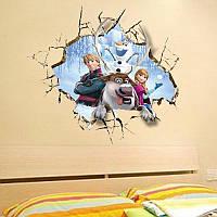 Наклейка виниловая Пейзаж Frozen 3D декор
