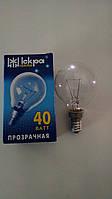 Лампа накаливания Искра шар 40Вт, E14, прозрачная
