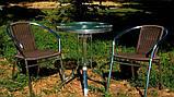 Стол алюминиевый со стеклянной столешницей, фото 4