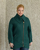 Короткое женское пальто на змейке