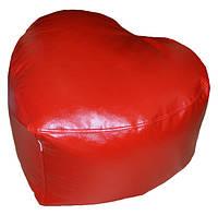 Бескаркасная мебель Кресло мешок пуф пуфик СЕРДЦЕ, фото 1