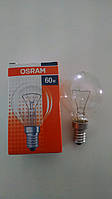 Лампа накаливания Osram шар 60Вт, E14, прозрачная