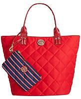 Сумка Tommy Hilfiger Quilted Shopper Bag. Красный цвет. Оригинал из США.