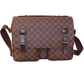 Мужская кожаная сумка 300205 коричневая