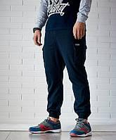 Мужские штаны карго UP Cargo NVY синие зауженные с карманами (брюки-карго)