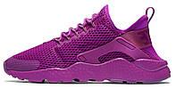 "Женские кроссовки Nike Air Huarache Run Ultra BR ""Purple"", найк хуарачи"