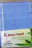 Простынь махровая Бамбук 200*220 (TM Ikizler) голубой, Турция