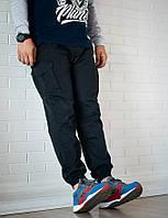 Мужские штаны карго UP Cargo BLK черные зауженные с карманами (брюки-карго)