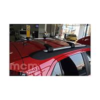 Багажник на интегрированные рейлинги Kia Carens 5d MPV (2013-) черные