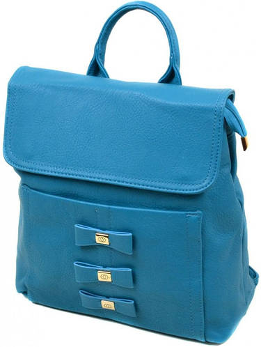 Практичный женский рюкзак из искусственной кожи 10 л. 06-1 16209 blue, синий