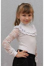 Водолазка для девочки белая 152р