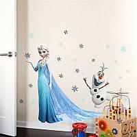 Наклейка виниловая Frozen 3D декор