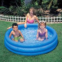 Круглый детский надувной басейн Intex 59416 для дачи и отдыха 114*25 см