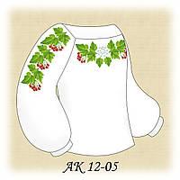 Заготовка сорочки для девочки для вышивания АК 12-05 Калина