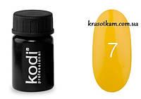 Гель-краска Kodi №07 жёлтая