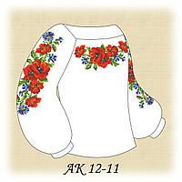 Заготовка сорочки для девочки для вышивания АК 12-11 Цветочное Прикосновение