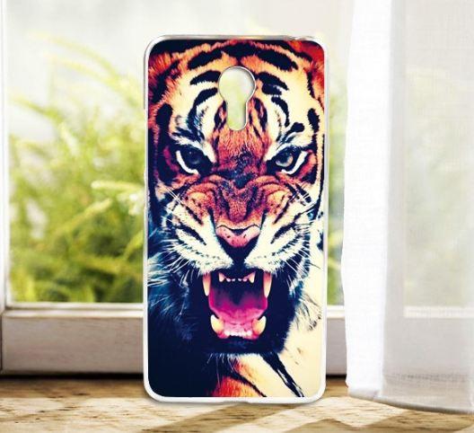 Силиконовый чехол для Meizu M3 Note с картинкой тигр