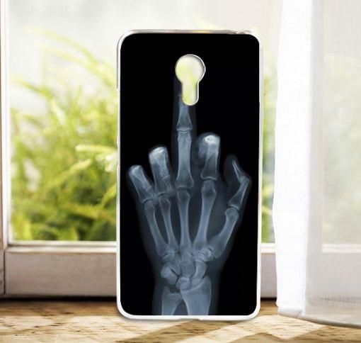 Силиконовый чехол бампер для Meizu M3 Note с картинкой рука