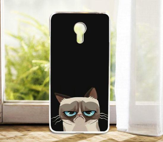 Силиконовый чехол бампер для Meizu M3 Note с картинкой котуля