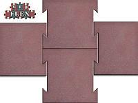 Резиновая травмобезопасная плитка замок