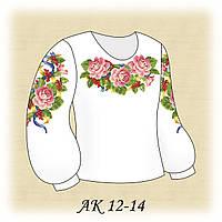 Заготовка сорочки для девочки для вышивания АК 12-14 Праздничная