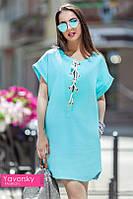 Платье льнянное рубашечного кроя