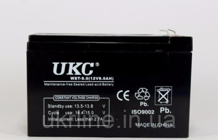 Аккумулятор BATTERY 12V 9A, аккумуляторная батарея UKC, гелевый аккумулятор 12v 9а, аккумулятор battery - Интернет-магазин UkrLine в Киеве