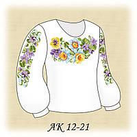Заготовка сорочки для девочки для вышивания АК 12-21 Весенняя